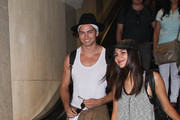 Victoria Justice and Pierson Fode are seen at LAX on August 29, 2015.