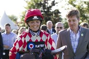 Victoria Pendleton Rides in a Charity Race at Newbury