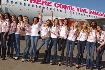 Adriana Lima Victoria's Secret models arrive in Los Angeles