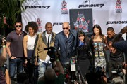 Vin Diesel and the cast of 'Furious 7' attend his cement hand print ceremony.
