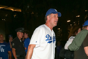 Will Ferrell Celebrities at the NLCS at Dodger Stadium