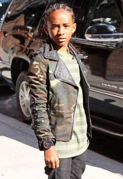 Jaden Smith lights up Mahattan today as he visits Letterman to promote his new film 'Karate Kid'.