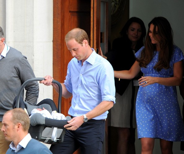 Prince George In The Newborn Prince Of Cambridge Leaves