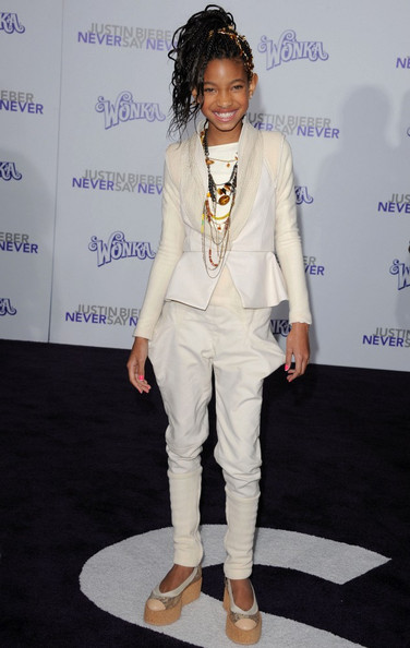 "Willow Smith Los Angeles Premiere of ""Justin Bieber: Never Say Never"". Nokia Theatre L.A. Live. Los Angeles, CA.February 8, 2011."