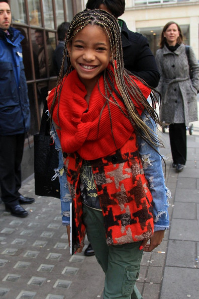 Willow Smith Willow Smith is all smiles as she arrives at BBC Radio 1.