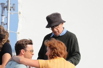Woody Allen Woody Allen, Justin Timberlake, and Kate Winslett Are Seen on Set