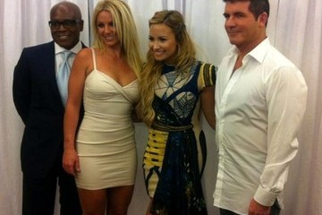Simon Cowell L.a. Reid The Official Linuep of the 'X-Factor'