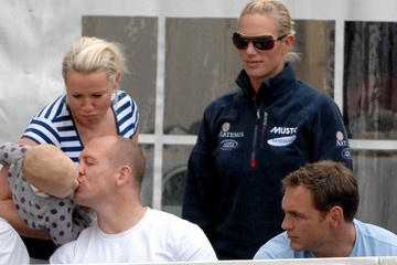 Savannah Phillips Zara Phillips and Mike Tindall at Gatcombe Park