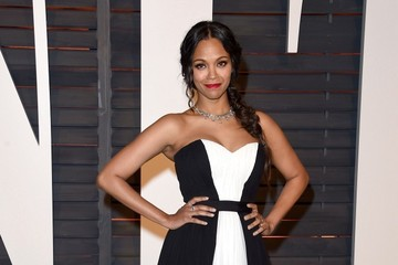 Zoe Saldana Stars at the Vanity Fair Oscar Party