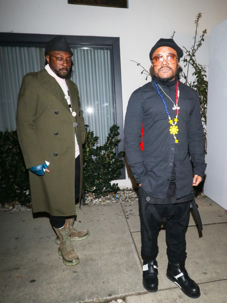 Will.i.am Stands Outside Stanley Social In West Hollywood