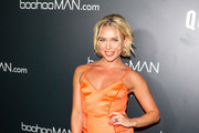 Gabby Allen is seen attending the boohooMAN x Quavo Launch Party at The Sunset Room in Los Angeles, California.