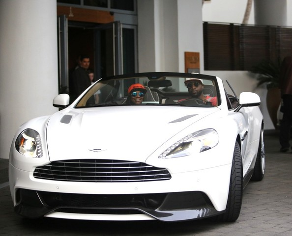 photo of Gabrielle Union Aston Martin Vanquish  - car