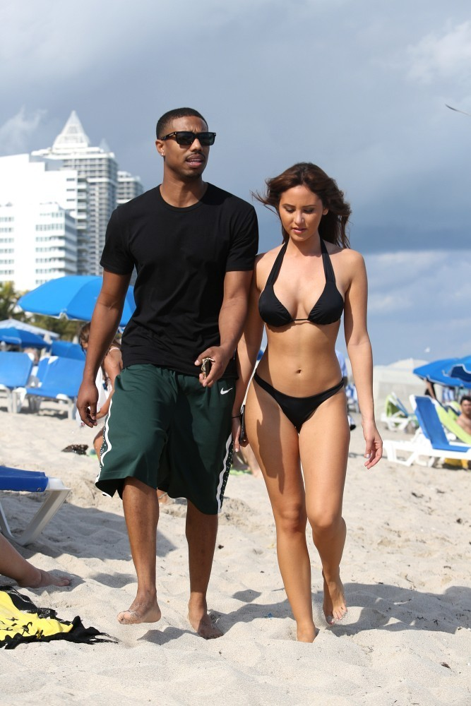 Michael B Jordan At The Beach Zimbio