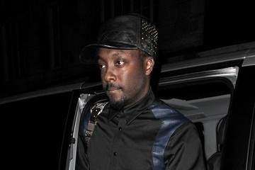 will.i.am Celebs Arrive at the Dorchester Hotel
