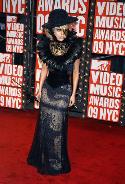 Lady Gaga Celebrities attend the 2009 MTV Video Music Awards at Radio City