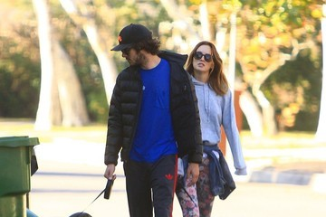 Adam Brody Adam Brody and Leighton Meester Walk Their Dogs