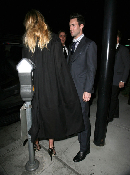 Adam Levine And Anne Vyalitsyna Out For Dinner At Mastro's Steakhouse