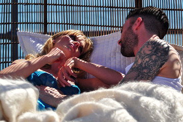 Adam Levine Anne V Adam Levine And Anne Vyalitsyna Filming A Maroon 5 Video In Santa Monica