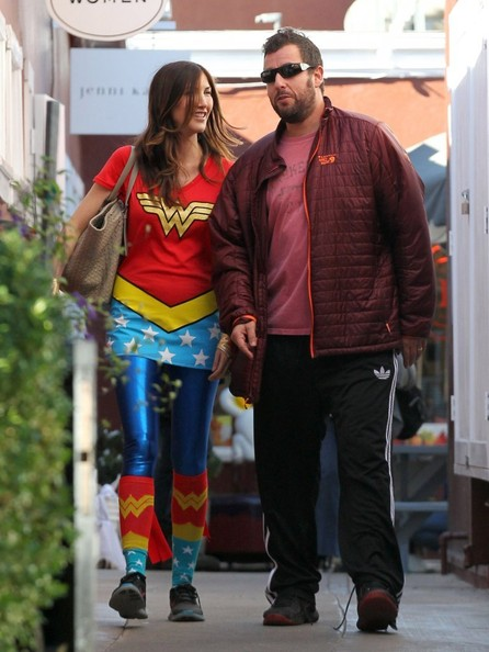 Jackie Sandler in Adam Sandler Takes His Girls to the Market - Zimbio