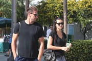 Victoria's Secret model Adriana Lima and her husband Marko Jaric make a morning Starbucks run on January 5, 2013 in Miami, Florida.