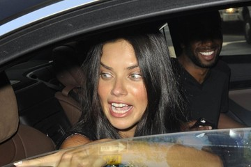 Adriana Lima Celebs Spotted Out During New York Fashion Week