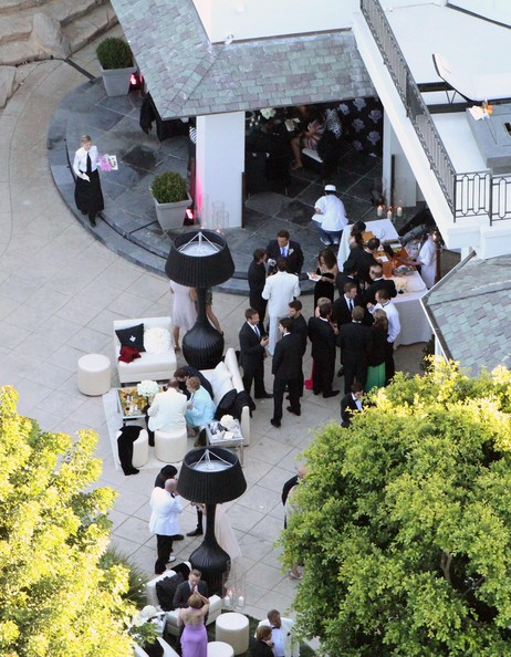 Aerial views of the Robbie Williams and Ayda Field wedding today in the
