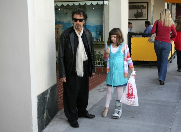 Al Pacino Actor Al Pacino takes his daughter Olivia toy shopping at Tom's ...
