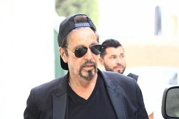 Al Pacino Al Pacino Grabs Lunch at Ebaldi in BH With Friends