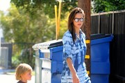 Alessandra Ambrosio Spends Time with Her Son