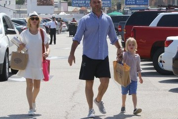 Alexander Schreiber Liev Schreiber and Family Go Out for Father's Day Lunch