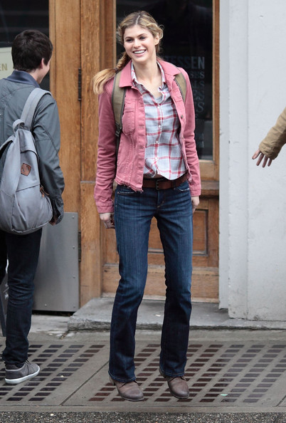 Alexandra Daddario - Stars On The Set Of 'Percy Jackson: Sea Of Monsters'