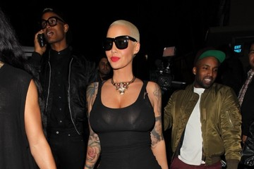 Amber Rose Stars Celebrate French Montana's Birthday At 1OAk