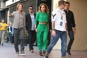 'American Idol' judges Jennifer Lopez, Keith Urban, and Harry Connick Jr. are seen filming for the 'Hollywood Week' auditions on October 28, 2014 in Los Angeles, California. The 14th season of American Idol is set to premiere on the FOX network on January 14, 2015.