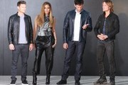 'American Idol' judges Jennifer Lopez, Harry Connick Jr. and Keith Urban along with host Ryan Seacrest doing a photo shoot at Milk Studios in Los Angeles, California on October 2, 2014. The hit singing competition reality TV show is currently filming it's 14th Season!