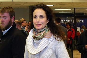 Andie MacDowell Celebrities Arriving For The 2015 Sundance Film Festival