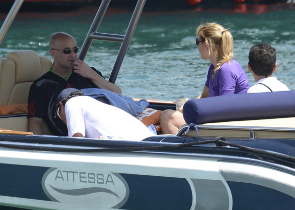 Andre Agassi - Andre Agassi and Family Vacation In Italy