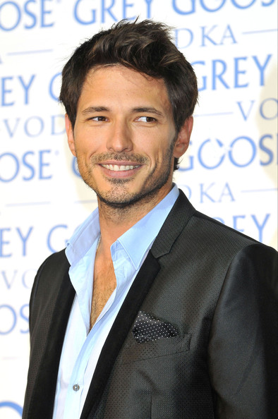 Andres Velencoso Spanish model Andres Velencoso, Kylie Minogue's boyfriend, seen at Cibeles Fashion Week.