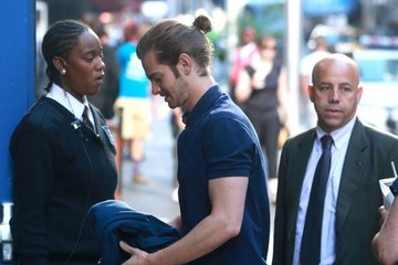 Andrew Garfield Celebrities Visit ABC Studios for an Appearance on 'Good Morning America'