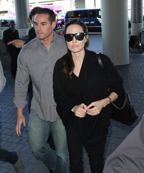 Angelina Jolie Catches a Flight