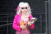 Angelyne Stops by the Post Office in Beverly Hills