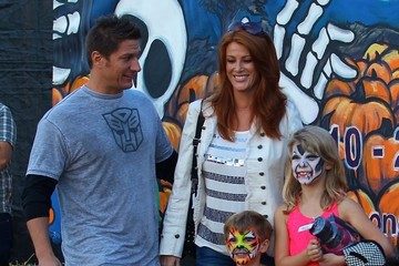 Angie Everhart Angie Everhart & Son At Mr. Bones Pumpkin Patch