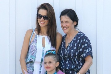 Anja Ambrosio Mazur Alessandra Ambrosio and Family Out For Lunch