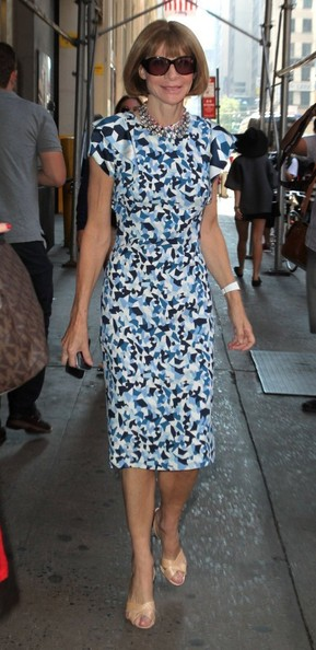 Anna Wintour - Celebrities Spotted Out During New York Fashion Week