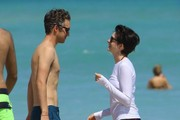 Anne Hathaway and Adam Shulman at the Beach