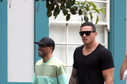 Anthony Mundine & Sonny Bill Williams out with their manager at Woolloomooloo Wharf in Sydney, Australia.