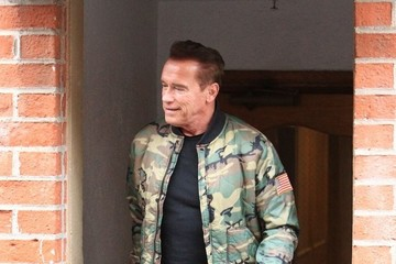 Arnold Schwarzenegger Arnold Schwarzenegger Wearing Medical Boot In Beverly Hills