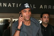 Ashley Cole Arrives on a Flight at LAX