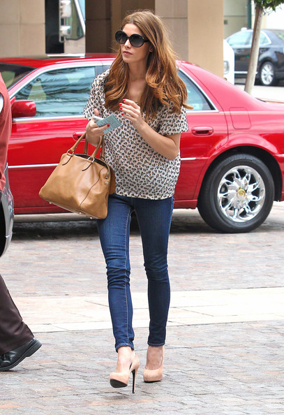 """Twilight"" actress Ashley Greene was out and about for lunch in Los Angeles, California on August 3, 2012."