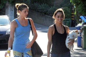 Ashley Greene Ashley Greene Stops By Cara Santana's House