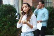 Ashley Madekwe Chats on Her Cell Phone
